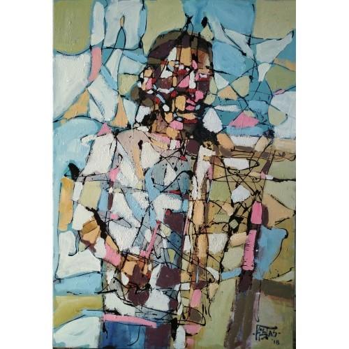 """""""Ο ζωγράφος"""", λάδι σε μουσαμά"""