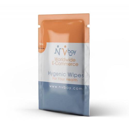 Antibacterial Hand wipes with NVbay Logo